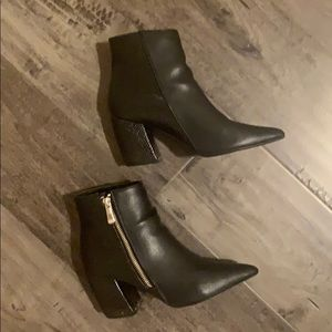 Forever 21 black leather booties